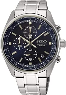 SEIKO 精工 男士 模拟 日本石英手表 不锈钢表链 SSB377P1