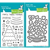 Lawn Fawn Trim The Tree Clear Stamp and Die Set - Includes One Each of LF564 (Stamp) & LF574 (Die) - Custom Set