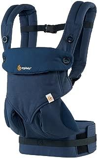 ERGObaby 360所有 CARRY positions 屡获殊荣酷炫网布人体工学婴儿背带,碳灰色 深蓝色 均码