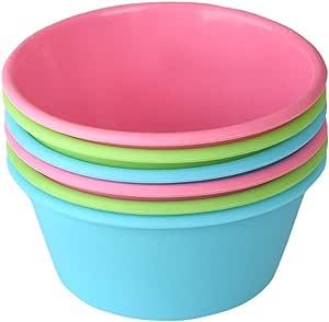 Bakerpan 硅胶迷你蛋糕盘,大号松饼杯,3.5 英寸烘焙杯 多种颜色 02020
