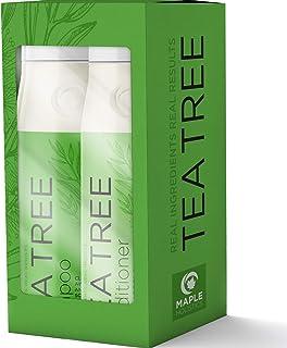 茶树洗发水和护发素礼品套装 - 防*油干性瘙痒皮肤 - 天然*净洗发水和深层护发素,薰衣草和迷迭香精油 - 美国制造