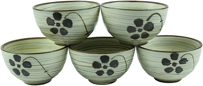 6 件套,手工陶瓷陶瓷陶瓷传统蛋糕礼盒套装*冷蛋糕套装(5 杯带 1 瓶) (5) Cup Only AE-18120