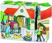 Goki Cube 拼图生活在农场上