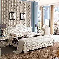 Royal皇朝家私QK09A001简约韩式田园床1.8米双人床卧室家具板式床静时光床1.8M*2.0M(供应商直送)