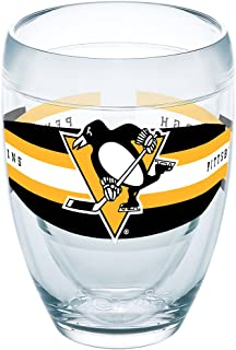 Tervis 1258299 NHL Pittsburgh Penguins Select 隔热杯带包装,9 盎司,透明