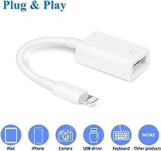 VELLEE * USB 相機適配器,USB OTG 電纜適配器兼容 iPhone/iPad,支持 iOS 13 及之前、USB 母頭支持連接卡讀卡器、U 盤、鍵盤、鼠標、USB 閃存盤