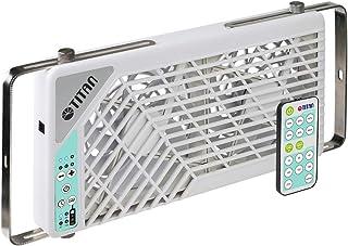 Rv Vent Fan TITAN 12V DC 140mm 双可逆车顶窗风扇带无线控制器适用于 RV Motorhome -TTC-SC21/V3