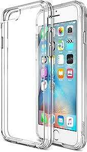 iPhone 6S 手机壳 iPhone 6 手机壳,Trianium 高级透明缓冲 iPhone 6/6S 手机壳缓冲【防刮】无缝集成减震保护套和透明后硬壳TM-IP6S01-CLR 透明