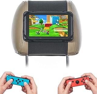Skywin Switch Plane 车载支架 - Nintendo Switch 车载支架适用于长途汽车和平板车 - *稳定的Nintendo Switch头枕安装,易于安装和存放在汽车隔间