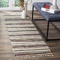 Safavieh Rag Rug 系列 RAR126A 手工编织象牙灰色棉地毯