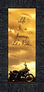 Life's a Journey, Gift for Motorcycle Riders,Harley Davidson 相框,6x12 7850 炭黑色 6x12