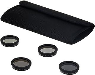 Fotodiox 四 (4) 件过滤器套件适用于 DJI Phantom 3 和 4 架无人机 - ND4、ND8、ND16 和 PL 过滤器,适用于幻影 3 和 4 个摄像机
