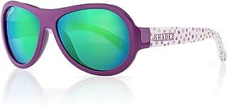 shadez 儿童 FLEX 画框设计师飞行员太阳镜 防紫外线适用于婴儿、儿童和青少年 Hearts 3-7 years