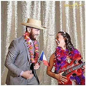 亮片背景高*亮片背景摄影亮片织物照片展览窗帘 香槟色 6FTx6FT Champagne Backdrop Curtain 6x6