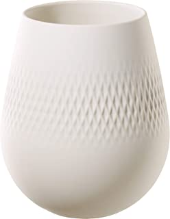 Villeroy & Boch 德国唯宝 Collier Blanc 花瓶 Carré No. 2,12.5 x 12.5 x 14厘米,优质瓷器,白色