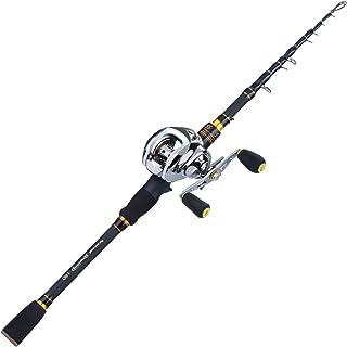 Sougayilang Baitcaster 钓鱼竿和渔线轮组合,超轻抛饵钓鱼轮适用于旅行海水淡水及初学者5.9英尺/6.9英尺(约1.5米/6.9英尺)