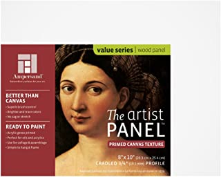 "Ampersand Art Supply 帆布纹理艺术家面板 3/4 Inch Depth 8""x10"" APC75810"