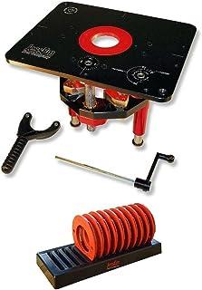 JessEm 02120 Mast-R-Lift II 铣削升降器 + 02030 10 件插入式环套件 带水槽