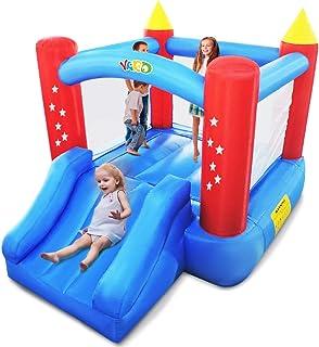 YARD *版弹跳屋带滑梯儿童充气蹦床空气鼓风机室内室外玩具屋