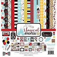 Echo Park Paper Company MAG177016 魔法冒险 2 系列纸,黑色,红色,黄色,青色,牛皮纸