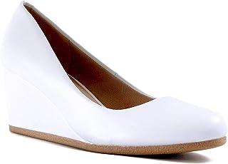 Guilty Heart 经典办公室舒适坡跟 - 柔软中低跟圆头散步礼服浅口鞋