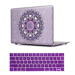 MTAOTAO 塑料图案硬壳带键盘保护壳 适用于 MacBook Pro15 英寸 (A1707) A1707 A1707 MacBook pro 15'' touch bar
