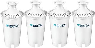Brita 大水罐标准替代水过滤器,1 计数 白色 Standard - 4ct