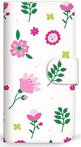 MITAS 智能手机保护壳翻盖式花朵可爱 粉色 2_Xperia Z3 (401SO) Sony