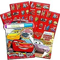 Disney 汽车总动员彩色和活动套装,幼儿 -- Pixar 汽车总动员免费涂色书,带魔力笔和超过 500 张贴纸 游戏套装