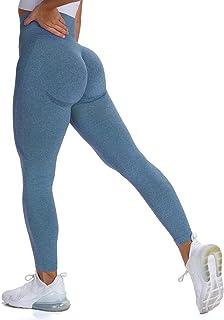 MOHUACHI 女式高腰打底裤收腹提臀瑜伽裤锻炼压缩紧身裤