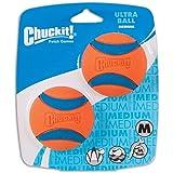 Chuckit! Ultra Ball 橙色 中号,2.5 英寸,2 件套