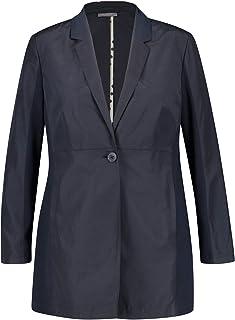 Samoon 女士长款西装外套,混合材质,凸显身材