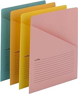 Smead Organized Up Notes Slash File Jacket,字母尺寸,混色(75427) 1 X Pack of 12