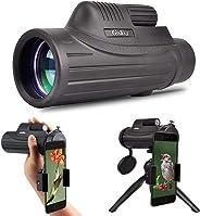Gosky HD 单筒望远镜 - 防水狩猎单筒望远镜 带智能手机支架 用于狩猎生存野生动物观察 Secenery 12x50 Monocular with Smartphone Adapter and Tripod