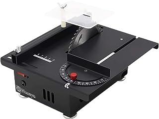 Huanyu 迷你台锯 厚度40MM 桌面速度可调双旋转 带防尘锯片 金属木 亚克力 Cutting/Polishing Set