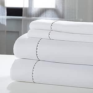 Amrapur 海外床单套装 白色/银色 全部 11000BRE-WHS-FL
