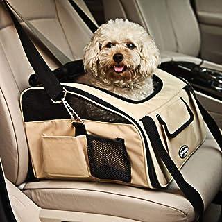 Pettom 宠物汽车*座椅,适用于狗猫,Lookout 增高座椅 卡其色 Large-Hold Pet up to 20lb