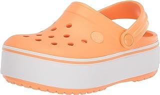 Crocs 卡骆驰女童 Crocband 防水台洞洞鞋