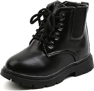 Komfyea 幼儿童靴侧拉链战斗短裤及踝靴,适合男孩女孩
