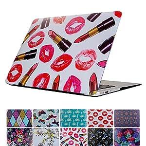 MacBook Air 13 英寸保护套,PapyHall MacBook 保护套深色硬质塑料外壳适用于 Apple MacBook Air 13 英寸型号:A1369/A1466 11 Inches