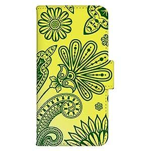 智能手机壳 手册式 对应全部机型 印刷手册 wn-099top 套 手册 蔓藤花纹 装饰 美术 图案 植物 草 木 UV印刷 壳WN-PR014356-S AQUOS PHONE es WX04SH B款