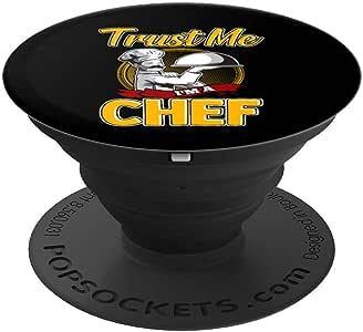 Cute Trust Me I'm a Chef 专业厨师 PopSockets 手机和平板电脑握架260027  黑色