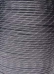 550 Paracord Black Reflective 100 Feet