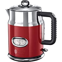 Russell Hobbs 烧水壶 复古红色 1.7L 2400W 快速烧煮功能 复古设计搭配水温显示 注水量显示 壶嘴采用优化设计 复古茶具21670-70