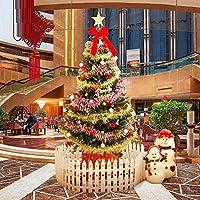 圣诞节60cm1.5米1.8米仿真圣诞树套餐装家用小迷你加密大型发光装饰品圣诞节饰品 (2.1米·约170配饰·LED灯·栅栏)