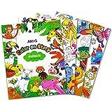 AMOS 阿摩司 绘画本 幼儿填色书 儿童画画书韩国原装进口 涂色本套装
