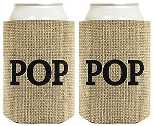 父亲节礼物 Pop 多包装 Coolie Drink Coolers Coolies 粗麻布 14138561