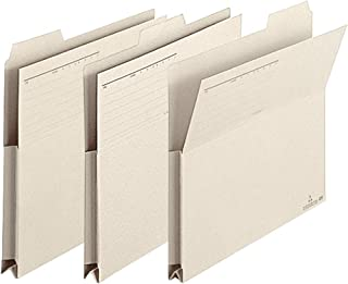PLUS 裁剪式文件夹 带有A4横裆垫 3份 FL-003PF 浅灰色