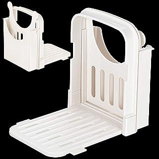 面包切片机可调节面包切片机可折叠面包烤面包切片机夹层机切片机面包切片机导向工具带5片厚度适用于厨房