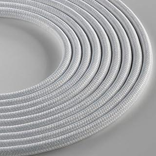Klartext - 光圆形织物电缆用于照明,3 x 0.75 毫米,哑光白色,3 米。 *大防震*!